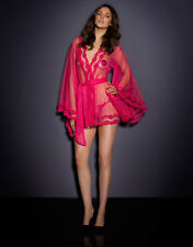 AGENT PROVOCATEUR RARE HOODED LACY KIMONO PINK SIZE M/L RRP £600