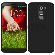 Amzer Premium Gel Morbido Silicone Skin Fit Jelly Case Cover per LG G2 D802-Nero