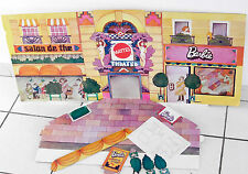 MATTEL BARBIE RARE PLV DIORAMA SALON DE THE THEATRE PRESENTOIR MAGASIN DE JOUET