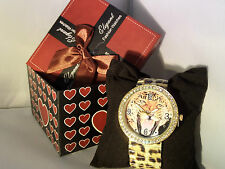 ladies girls leopard print watch gift set boxed christmas newyear gift jewellery