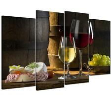 4pcs/set Canvas Prints Home Decor Wall Art Painting Picture-Wine Fruit Unframed