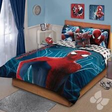 Amazing Spiderman Comforter Set Double Sided Kids Boys Room Bedding Cover New