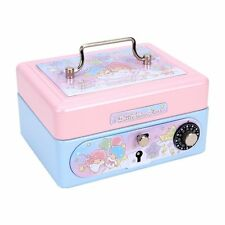 2016 Sanrio Little Twin Stars Metal Cash Box with Dial Lock & Key (S)  ~ NEW