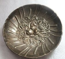 S.Kirk & Son Sterling Embossed Fruits Footed Bowl.