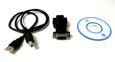 Black USB to RS232 serial DB9 Adapter USB Cable for XP Vista Win7 Female Screw