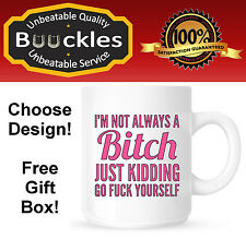 Bitch Mug Cup Present Gift for Her Christmas Birthday Funny Personalised Cool