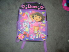 NICKELODEON DORA THE EXPLORER BLACK CANVAS BACKPACK