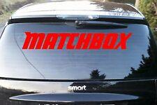 Matchbox Auto Aufkleber Heckscheibe 90x15 Sticker Schrift mercedes smart Audi VW