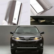 1x Silver Tailpipe Exhaust Muffler Tail Pipe Tip for 2013 2014 2015 Toyota Rav4