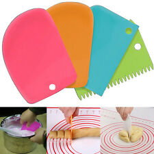 3pcs DIY Pastry Butter Dough Cake Cutter Cookie Scraper Decorating Tools New #he