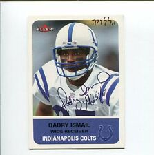 Qadry Ismail Indianapolis Colts Super Bowl XXXV Cham Signed Autograph Photo Card