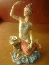2003 Kathryn Syrens of the Sea Munro Ent. Porcelain Mermaid Statue Shells Pearls