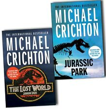 Michael Crichton Jurassic Park 2 Books Collection Pack Set The Lost World New