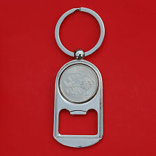 US 2000 Virginia State Quarter BU Unc Coin Key Chain Ring Bottle Opener NEW