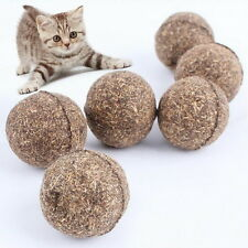 2pcs Cat Mint Ball Play Toys Ball Coated with Catnip Bell Toy for Pet Kitten DC