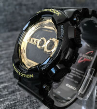 CASIO G SHOCK GD-100GB-1ER GOLD & BLACK DIGITAL 4 TIME ZONES 200M WR BRAND NEW