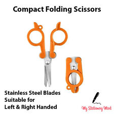 Folding Scissors Travel Camping Military Survival Tin Sewing LEFT RIGHT HANDED