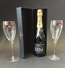 Moet Chandon Vintage 2006 Champagner 0,75l 12,5% Vol + 2 Riedel Moët Gläser