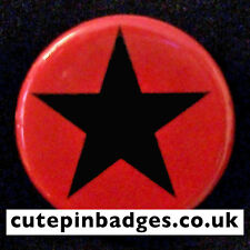 "Red Star Badge (25mm/1"") Pin Button Clash Punk Worn by Joe Strummer in Rude Boy"