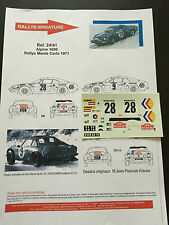 DECALS 1/24 ALPINE RENAULT A110 ANDERSSON RALLYE MONTE CARLO 1971 WRC RALLY