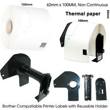 5x Brother Compatible DK11202 Printer Labels 62mm Roll+Holder for QL550 560 570