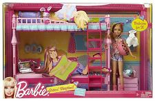 Barbie Sisters Sleeptime Bunk Beds Bedroom Furniture + Stacie Doll Play Set Rare