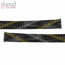 3M 16mm - 28mm BLACK NYLON CABLE SHEATH COVER FOR WIRE SHEATHING SLEEVE SLEEVING