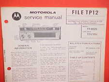 1972 MOTOROLA CAR AUTO 8-TRACK STEREO TAPE/FM MPLX RADIO SERVICE MANUAL TF802S