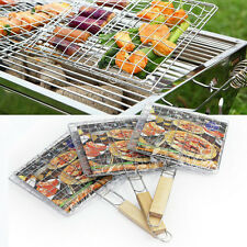 Outdoor BBQ Non Stick Large Grilling Basket Fish Vegetable Seafood Grill Grate