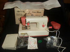 Small Crystal B/O Metal Sewing Machine - In Box w/ Instructions Etc - Working