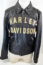 (Men's M) HARLEY DAVIDSON 100th ANNIVERSARY Commemorative Leather Jacket 2003