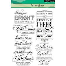 New Penny Black RUBBER STAMP Clear set FREE USA SHIP FESTIVE CHEER CHRISTMAS