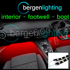2X 500MM RED INTERIOR UNDER DASH/SEAT 12V SMD5050 DRL MOOD LIGHTING STRIPS