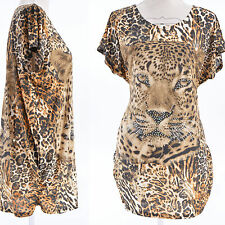 TOP Femme TUNIQUE TU 36 38 40 42 44 46 48 50 52 MARRON NOIR LEOPARD JAVA