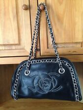 Hot In Hollywood Black Leather Purse Handbag Chain Detail