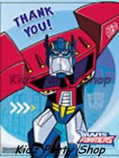 TRANSFORMERS - 6 THANK YOU CARDS + ENVELOPES - BIRTHDAY PARTY - FREE POST IN UK