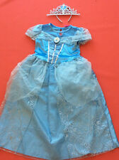 Cinderella Costume Disney Princess Dress Up and tiara Book Day Age 6/7 years