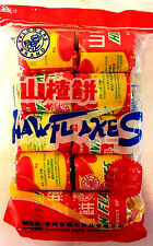 2 Bags of  Haw Flakes Candy Sweet And Sour -10 Rolls Per Bag