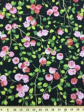"100% Cotton Duck Upholstery Flower Fabric By The Yard 55"" Wide By P/Kaufmann"