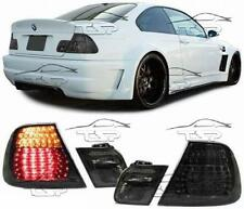 REAR LED TAIL LIGHTS SMOKE FOR BMW E46 99-03 SERIES 3 COUPE' LAMP FANALE