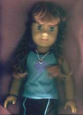 AMERICAN GIRL DOLL MOLLY BRUNETTE WITH BLUE EYES IN JOGGING OUTFIT EXC.