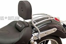 driver backrest with rack chrome Triumph 1700 Thunderbird LT + Commander