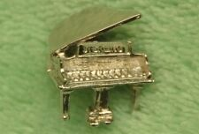 Sterling Silver Grand Piano 3D Charm