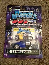 NEW 1/64 Funline Muscle Machines Blown 1933 '33 Ford 3 Window Coupe 02-38 Bluish