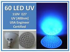UV Resin Cure Bulb Circuit Board Etching 60LED 400Nm 110V E27 USA Engineer Cert