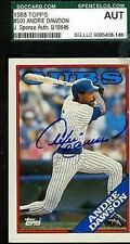 ANDRE DAWSON AUTOGRAPH JSA SGC 1988 TOPPS SIGNED AUTHENTIC