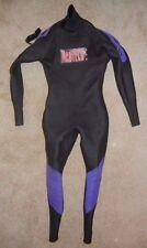 NEOTECH Black/Purple Water Ski Full Body NEOPRENE WET SUIT Size Adult LARGE Nice