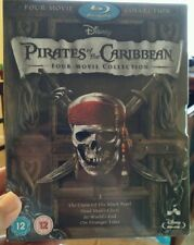 Pirates of the Caribbean: Four-Movie Collection(Blu-ray Disc,2012,4-Disc Set)NEW