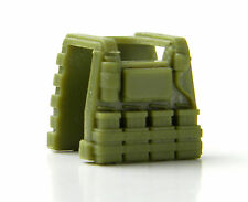 Light Olive E1 (W114) tactical Vest compatible with toy brick minifigures SWAT