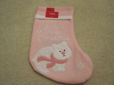 Christmas felt stocking baby's first Christmas pink girl new with tags 15 inches